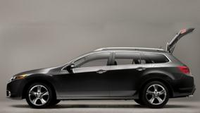 Side Pose Of 2011 Acura TSX Sport Wagon In Black